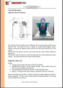 Single Disc Lifter Tool (Manual)